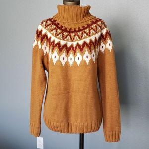 Rachel Zoe chunky fair isle turtleneck sweater